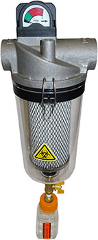 T-Style Vacuum Filters with Clear Housing for Medical/Laboratory